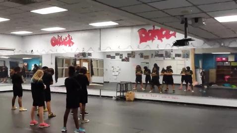 Thumbnail for entry Gold Crew dance team rehearsal 'Money Mashup' 11-3-15