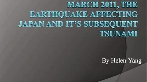 Thumbnail for entry Japan Earthquake/Tsunami