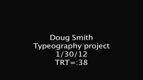Thumbnail for entry typography doug