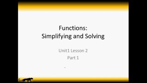 Thumbnail for entry Unit 1 Lesson 2 Part 1