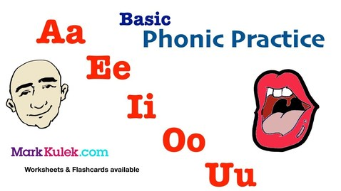 Thumbnail for entry Basic Phonic Vowels Sounds, Aa Ee Ii Oo Uu | English Pronunciation Practice | ESL | Learn The Basics