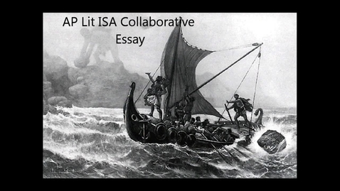 Thumbnail for entry Homer's Odyssey and Siren's Song Collaborative Essay