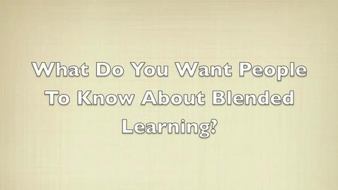 Thumbnail for entry Student Response to Blended Learning Pilot