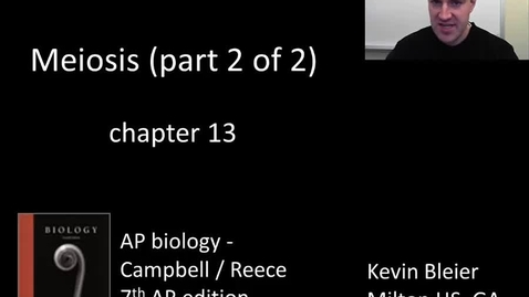 Thumbnail for entry Meiosis (part 2 of 2)