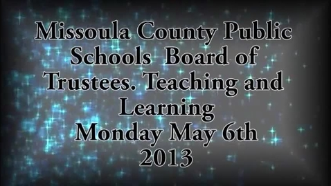 Thumbnail for entry MCPS Teaching and Learning Committee, May 6, 2013