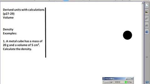 Thumbnail for entry Stephens Pre-AP Chemistry: (9/9/15) Quick Density