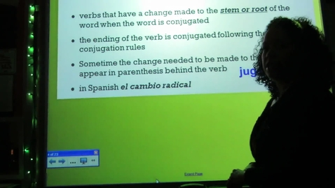 Thumbnail for entry Spanish - Stem-changing verbs - Present Tense