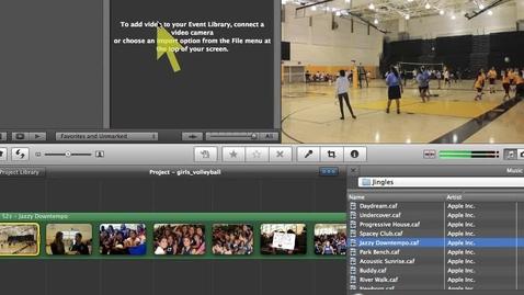 Thumbnail for entry Imovie 11- Adding Titles