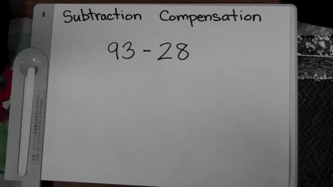 Thumbnail for entry Subtraction Using Compensation