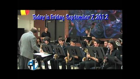 Thumbnail for entry Friday, September 7, 2012