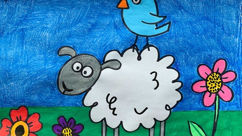 Thumbnail for entry Mrs. Griffin's 1st Grade Sheep Art Project