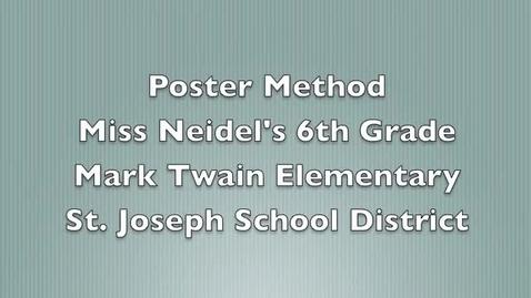 Thumbnail for entry Grade 6 Poster Method