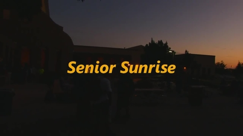 Thumbnail for entry Senior Sunrise 2014
