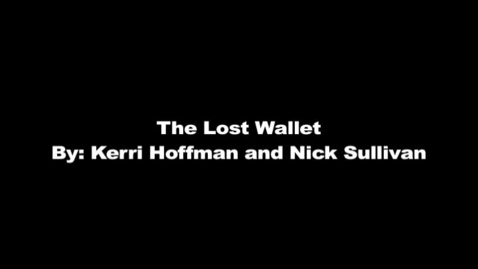 Thumbnail for entry The Lost Wallet