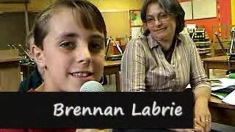 Thumbnail for entry Brennan Labrie Thanks Mrs. Stengel 1st and 2ed Grade Teacher
