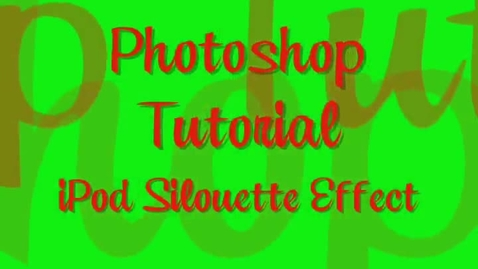 Thumbnail for entry Photoshop Tutorial - iPod Silhouette Effect