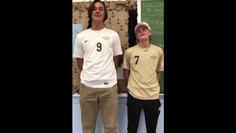 Thumbnail for entry Captains' Report - Boys Soccer Jimmy Monken & Stephen Waltrip