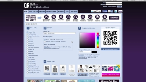 Thumbnail for entry How to create a QR Code
