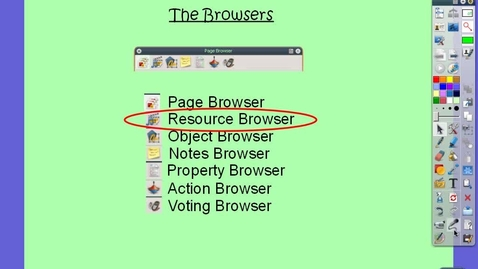 Thumbnail for entry Resource Browser