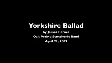 Thumbnail for entry Yorkshire Ballad