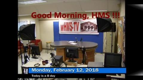 Thumbnail for entry 2-12-18 WHMS Morning News