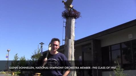 Thumbnail for entry National Symphony Orchestra member Glenn Donnellan visits Ferndale High School