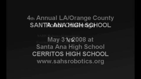 Thumbnail for entry 2008 LA/OC Robot Challenge, Santa Ana, CA