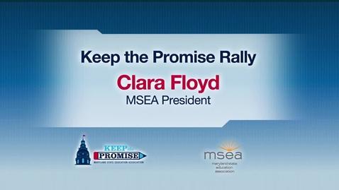 Thumbnail for entry MSEA President Clara Floyd's Keep the Promise Rally Speech