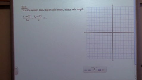 Thumbnail for entry College Algebra Section 10-5 day two ellispses