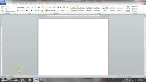 Thumbnail for entry First Line Indent in Word 2010
