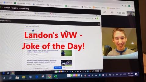 Thumbnail for entry WHMS Morning News    Dec 4, 2020