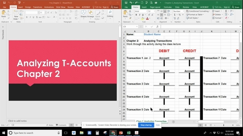 Thumbnail for entry Analyzing Transactions; T-Accounts_  Chapter 2 Accounting