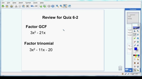 Thumbnail for entry Review for Quiz 6-2