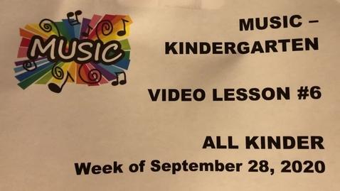 Thumbnail for entry Music K Lesson #6