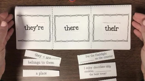Thumbnail for entry Homophones: they're, there, their