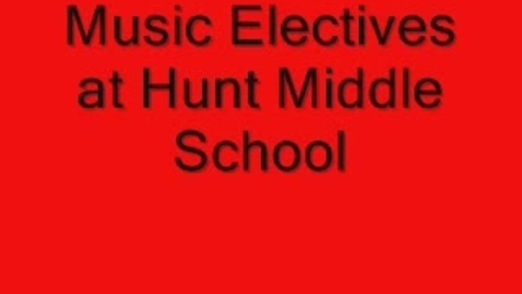 Thumbnail for entry 5th Grade Music Electives