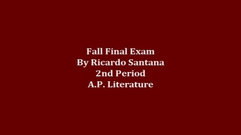 Thumbnail for entry A.P Fall Final Exam