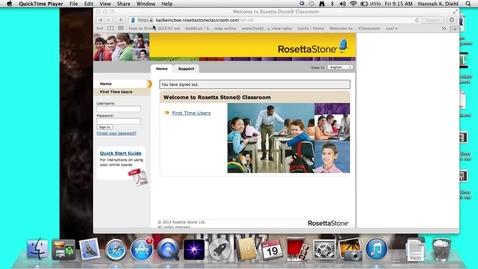 Thumbnail for entry Rosetta Stone Laptop/Desktop Tutorial