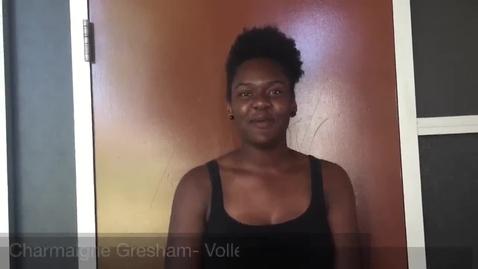 Thumbnail for entry CHARMAINGE GRESHAM: Volleyball Nominee