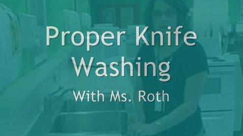 Thumbnail for entry Washing Knives
