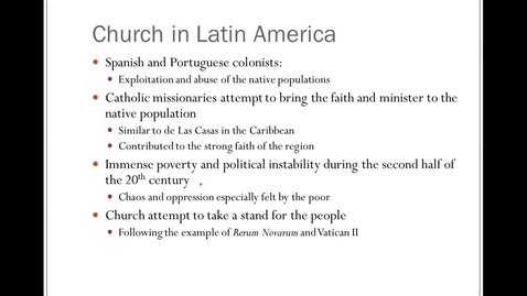 Thumbnail for entry Church in Latin America and Romero