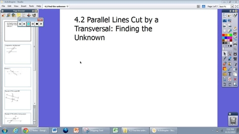 Thumbnail for entry 4.2 Notes: Parallel Lines Cut by a Transversal