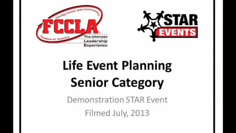 Thumbnail for entry FCCLA STAR Events Demonstration Life Event Planning Senior (Cannon County)