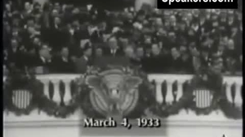 Thumbnail for entry 16-4 FDRs Inaugural Speech March 4, 1933