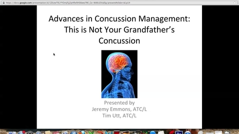 Thumbnail for entry ATC Concussion Video
