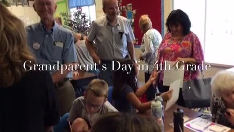 Thumbnail for entry Grandparent's day in fourth grade