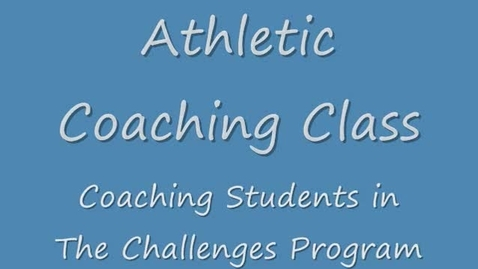 Thumbnail for entry Athletic Coaching: special education program