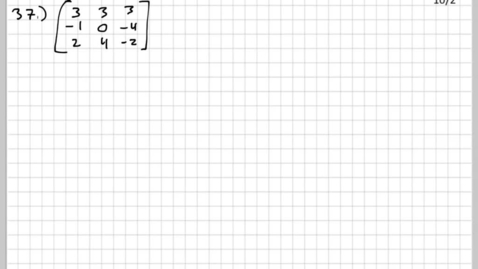 How do you solve a 4x4 system of equations with a matrix