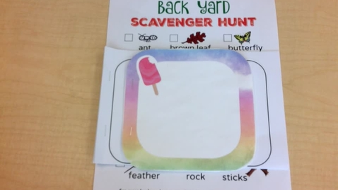 Thumbnail for entry Activity Time: Tuesday, May 25 - Nature Book & Backyard Scavenger Hunt