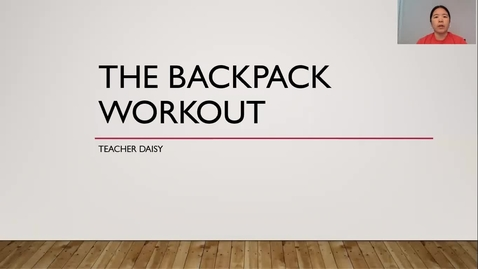 Thumbnail for entry Backpack Workout 6-8